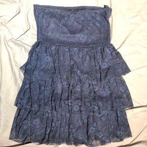Deb XL black strapless minidress layered skirt